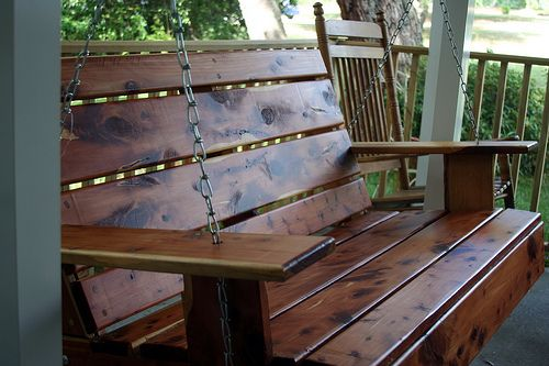 DIY Project – How to Install a Porch Swing http://blog.drummondhouseplans.com/2011/07/15/diy-project-how-to-install-a-porch-swing/