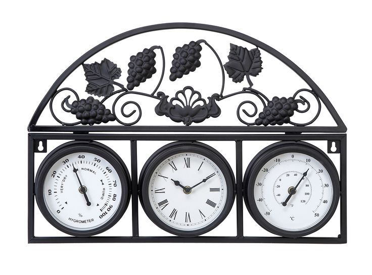 Malvina Outdoor Clock with Thermometer & Hygrometer