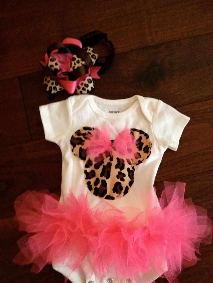 Cheetah Minnie Mouse Onesie tutu. $30.00, via Etsy.