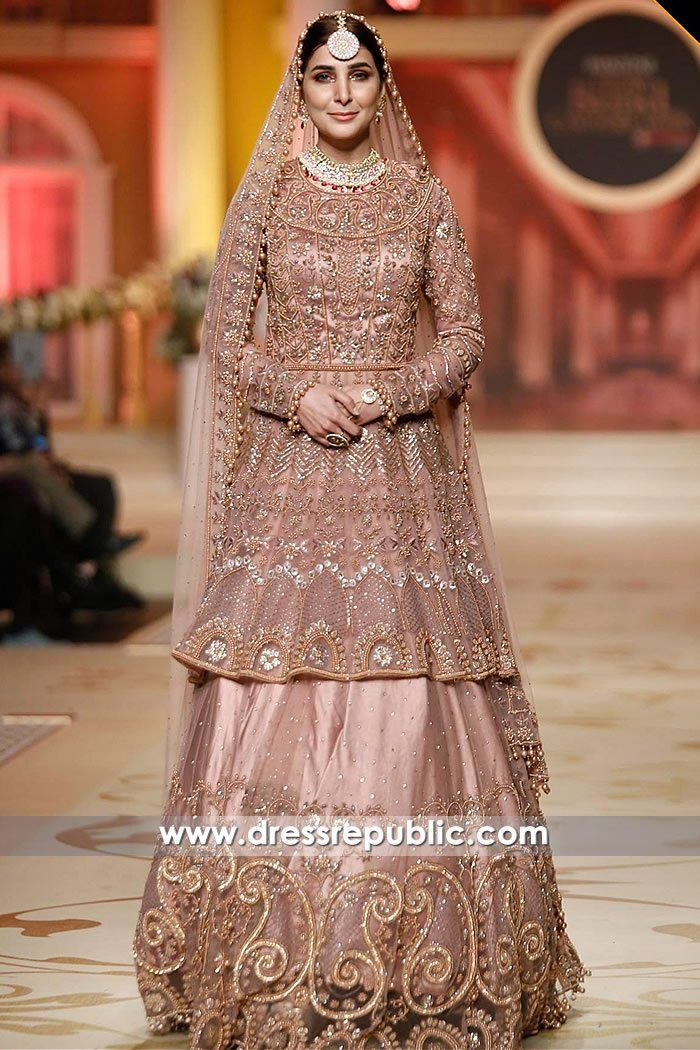 bc66e655ec Pakistani Designer Bridal Dresses 2018 USA Made to Order Online. Shop  customized and Personalized Pakistani Designer Dresses. Smoke Pink Vitale  Walima Dress ...