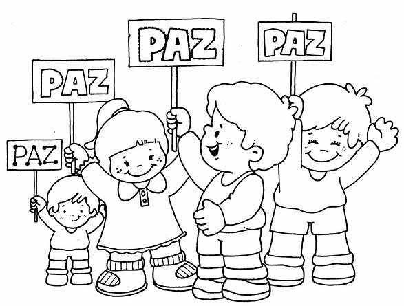 Colorear Dia De La Paz Y Dia De La Tolerancia 17 Dia De La Paz Dia De La Educacion Dibujos Para Ninos