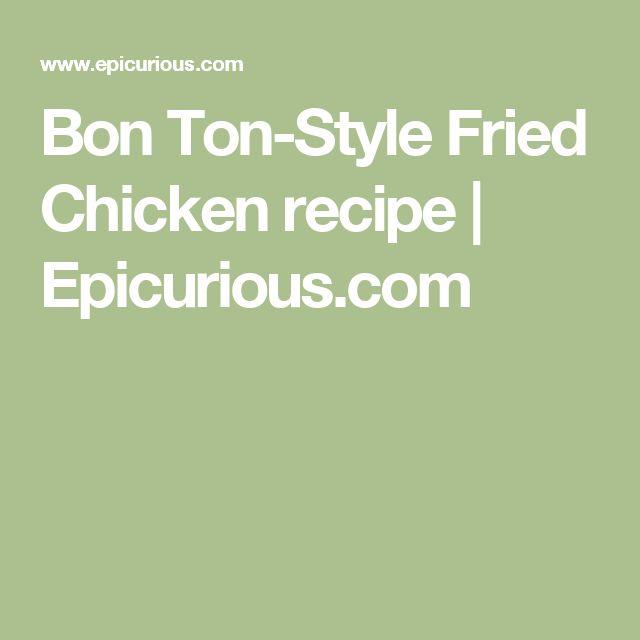 Bon Ton-Style Fried Chicken recipe   Epicurious.com