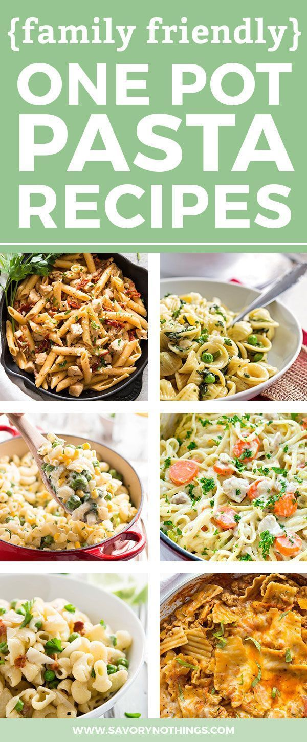 Are you in need of new one pot pasta recipes? These 20 recipes are easy to put together and make for a simple dinner your whole family can enjoy. Filled with your favorite pasta flavors like Italian or Asian, these recipes will put healthy homemade meals on the table ASAP! Some are vegetarian while others are with chicken, beef or bacon. Sauces like tomato basil, creamy alfredo or primavera are kid-friendly so even the littlest can load up their spaghetti with cheese :)