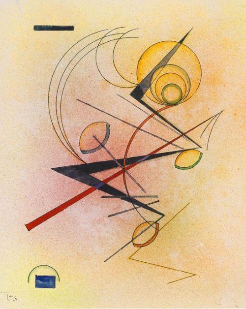 Kleines Warm  (1928) Wassily Kandinsky