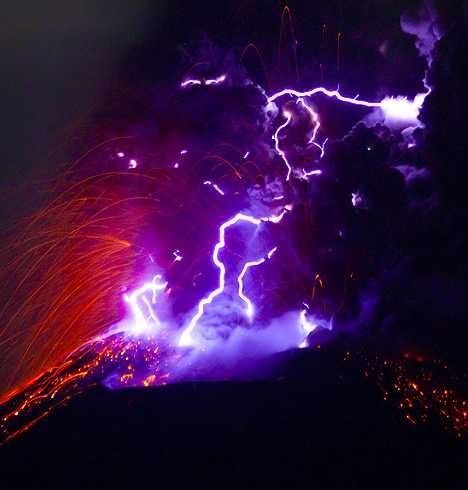 A dirty thunderstorm is a weather phenomenon that occurs when lightning is produced in a volcanic plume.