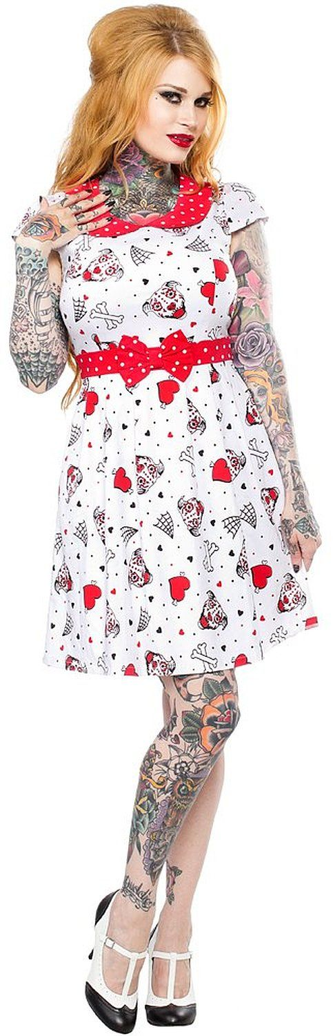 @nik_nikkie  you need this pitbull sugar skull dress!! Thought of you when I saw it!   Sourpuss I Heart Pitbulls Lizzie Dress at Amazon Women's Clothing store: