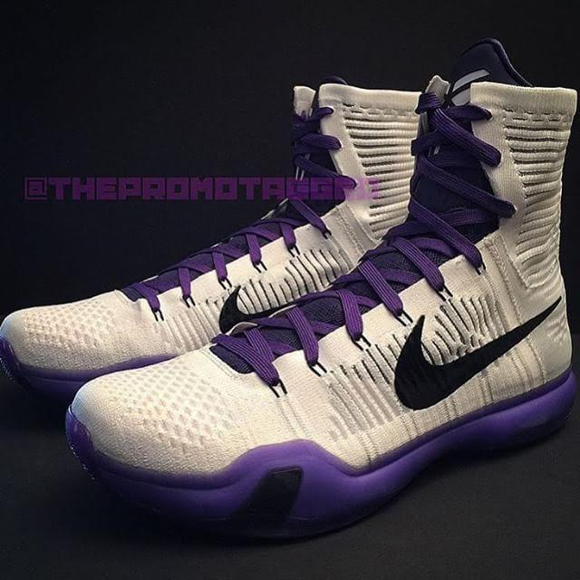 Rare Air - Nike Kobe 10 Elite White / Purple Player Exclusives - Air 23