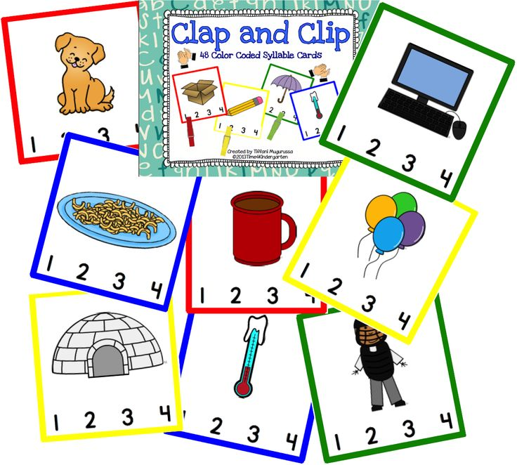 Klap de lettergrepen / Clap and Clip the syllables