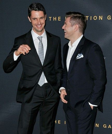 Matthew Goode & Allen Leech. Both played in The Imitation Game & Downton Abbey <- apparently. Mamma mia!