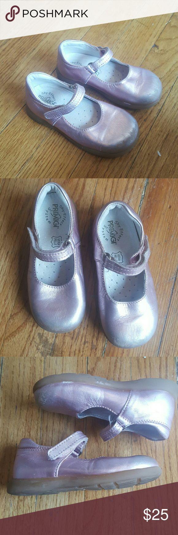 PRIMIGI BALLET FLAT KIDS M Primigi Sky effect Pink mary jane shoes Vera pelle Size 23 Primigi Shoes Dress Shoes