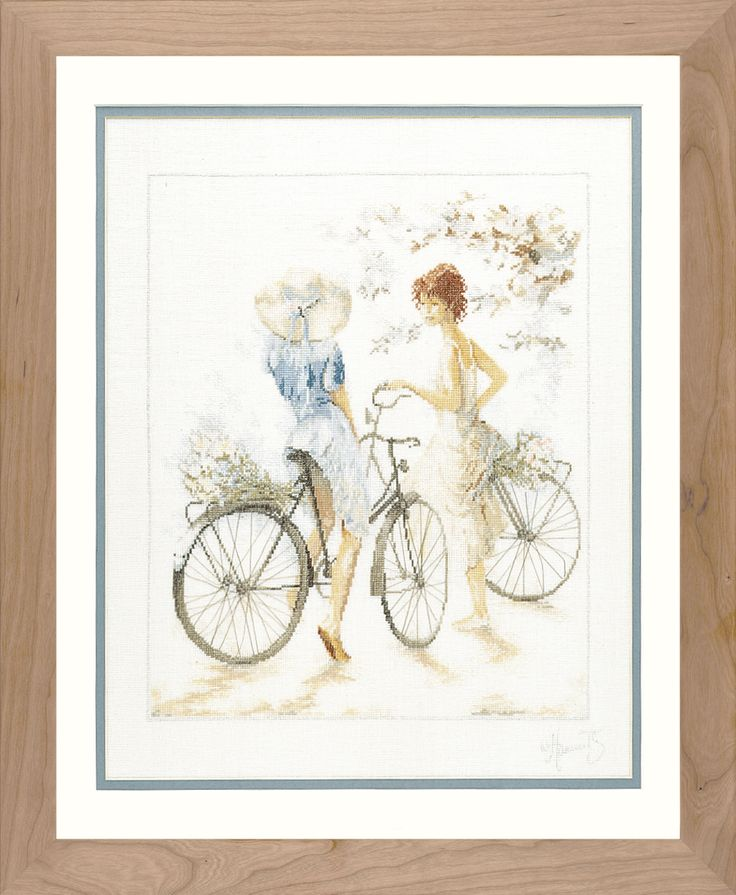MariesCrossStitch.co.uk - Girls on Bicycle Cross Stitch Kit by Lanarte, £33.20 (http://mariescrossstitch.co.uk/girls-on-bicycle-cross-stitch-kit-by-lanarte/)