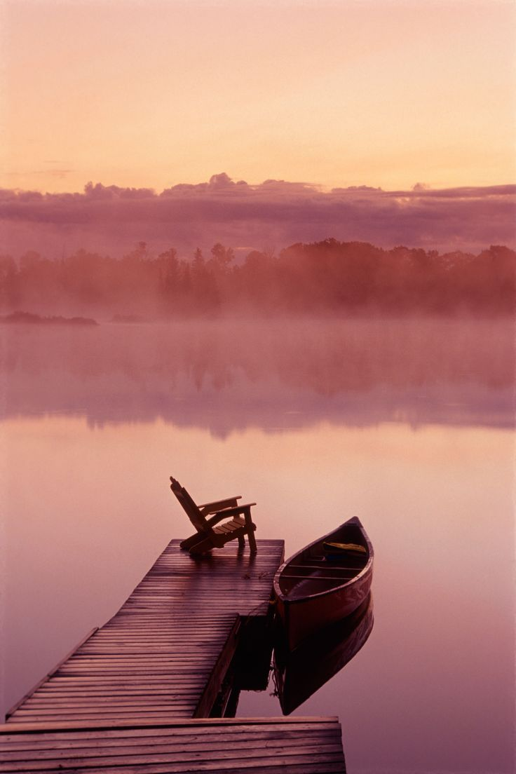 Celebrating Marsala: Pantone Color of 2015 -- Marsala is a muted shade similar to a softened burgundy. The word 'marsala' usually refers to a wine of the same name. Inspire LifeStyles with Alamy created a marsala-inspired image gallery that includes this photo: the sun setting over a canoe dock in Pinawa Manitoba brings touches of marsala to the surrounding waters.