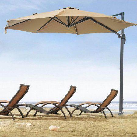 Yescom 10ft Hanging Offset Roma Outdoor Patio Umbrella UV30+ 200g w/ Cantilever Pedal Control - Walmart.com
