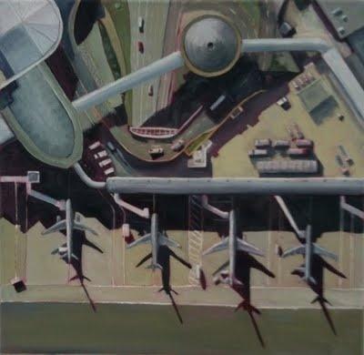 """""""Heathrow, small"""" Oil on Canvas."""