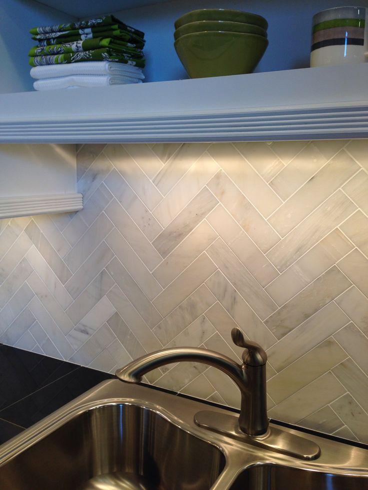 Herringbone Tile For Kitchen Backsplash