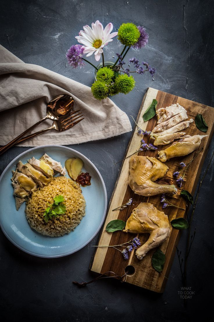 Hainanese chicken rice via @whattocooktoday