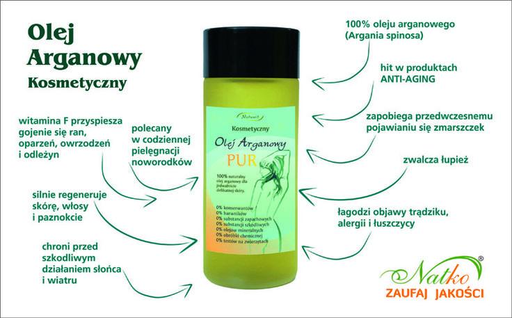 Olej arganowy kosmetyczny ma szerokie zastosowanie w codziennej pielęgnacji.