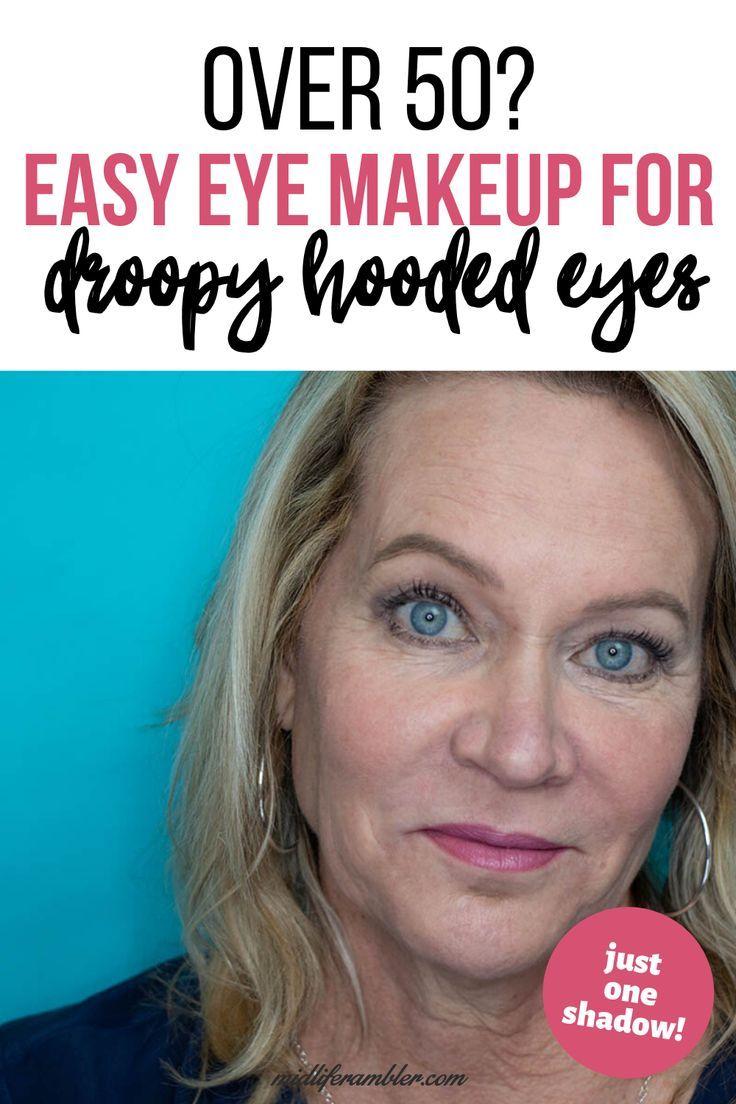 Easy One Eyeshadow Eye Makeup for Older Hooded Eyes in 10