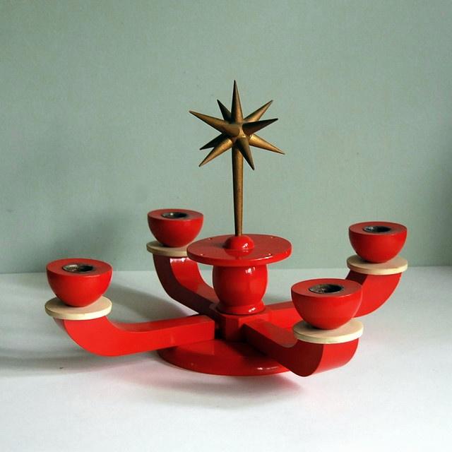 vintage erzgebirge german advent candle holder yule. Black Bedroom Furniture Sets. Home Design Ideas