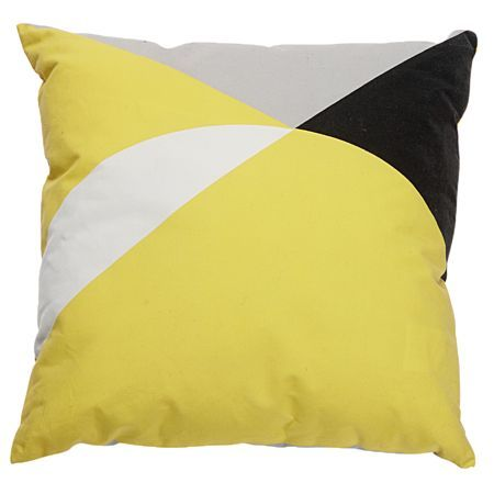 Living & Co Cushion Geo Yellow 43cm x 43cm