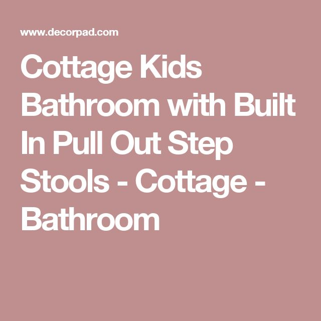 Cottage Kids Bathroom with Built In Pull Out Step Stools - Cottage - Bathroom