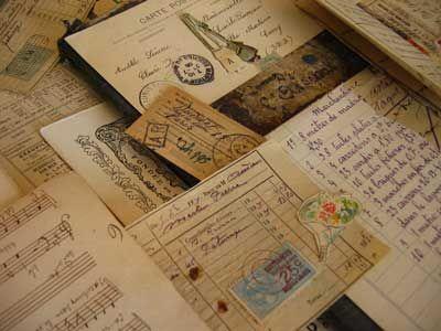 French vintage papers. #vintageVintage Paper, Vintage Wardrobe, Old Letters, Old Cards, Old Postcards, French Vintage, Pens Pals, Letters Writing, French Scripts