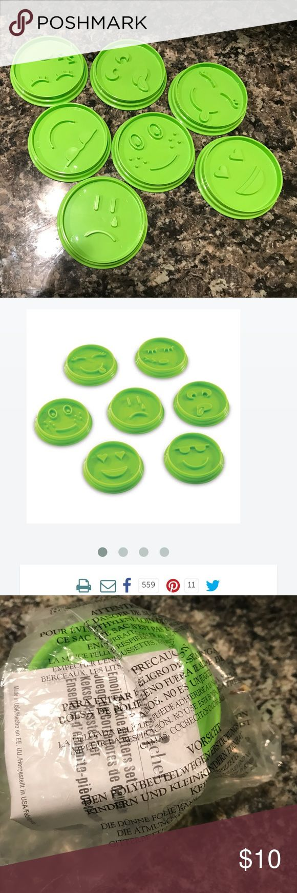 "Pampered Chef Emoji Cookie Cutters Whether you're having a party, making a gift, or just having fun in the kitchen, the Emoji Cookie Cutter Set is the cutest way ever to get kids cooking. Recommended for ages 6 and up. Details Includes seven cookie cutters that were designed by kids, for kids.™ Smiley sunglasses, sad face, silly face, lovey face, sleepy face, freckle face, and smiley lashes. 3½"" diameter; makes 3"" cookies. Cutters snap together for easy storage. Dishwasher-safe. pampered…"