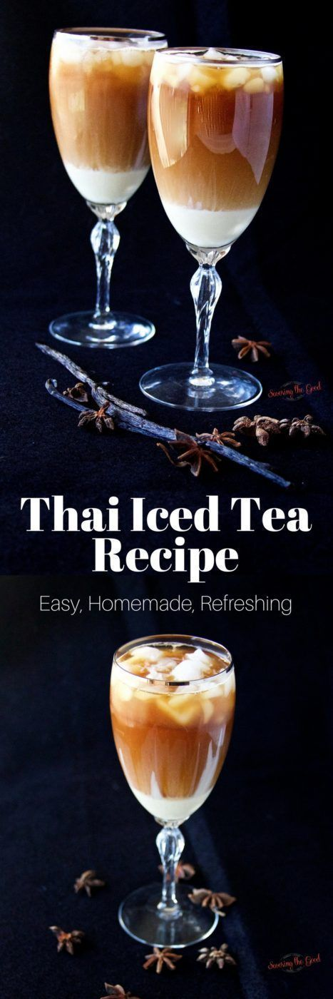 If you love the warm and spicy flavors with a swirl of creamy sweetness that is Thai Iced tea, you are going to drink up my homemade recipe. It is refreshing on a hot day and cools your palate after a spicy meal. This recipe is a blend of different recipe