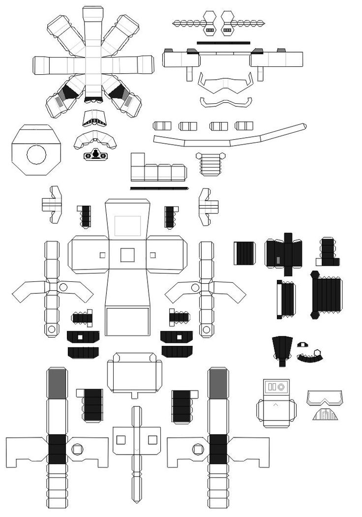 Free Printable Star Wars Star trooper. Paper Toys.