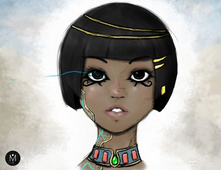 Sci-fi Egyptian Portrait by Mason Butterwick