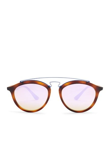 Image of Ray-Ban Women's Round Browline Sunglasses
