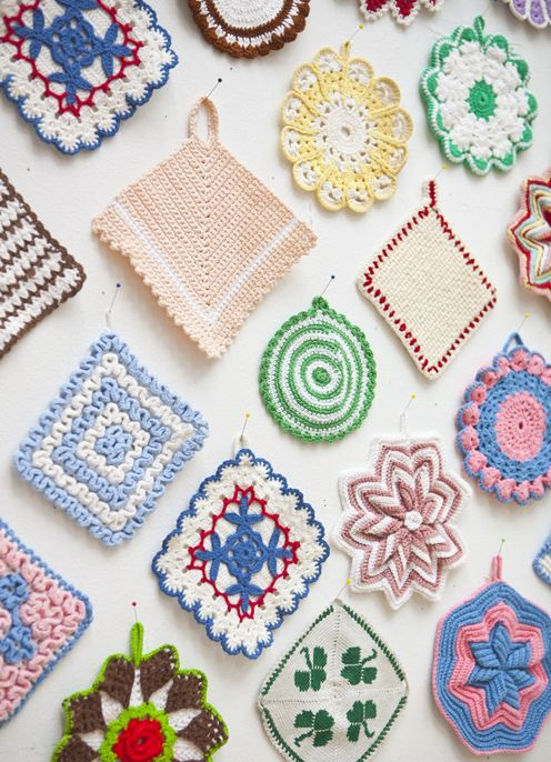 retro heaven...when you put together these simple handmade squares as a collection, they take on a bold, colourful personality