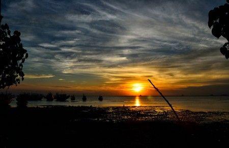 Simon Anon Satria: Beautiful Sunset at Sluke, Central Java - Indonesia.