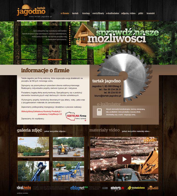 WebDesign 2014 - grafika dla firmy Tartak Jagodno