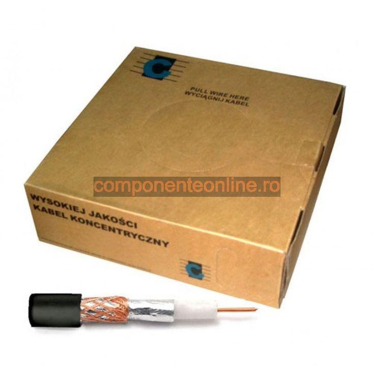 Cablu coaxial, RG59U, negru - 402269