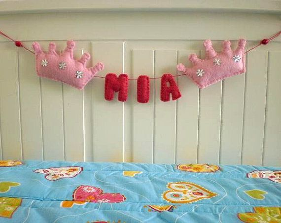 Custom Crown Felt Name Banner  made to order  3 by twinsandcrafts, $18.00