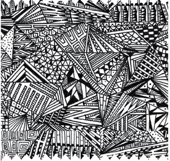 Examples Of Line In Art : Decadent doodling karolina kling monotone prints
