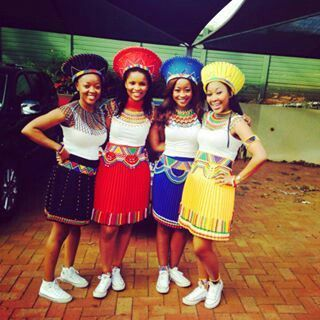 Zulu bridesmaids