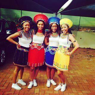 Zulu bridesmaids