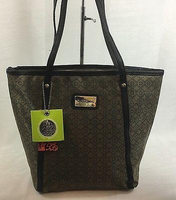 Simon Chang Lunch Bag Insulated Box Handbag Tote For Woman Taupe   / Gold   NWT