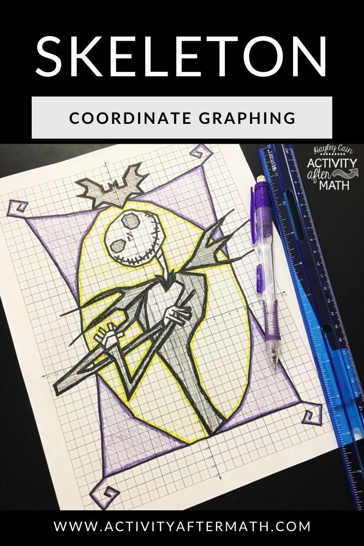 Halloween Math Skeleton Coordinate Graphing Picture Halloween Math Activities Coordinate Graphing Coordinate Graphing Pictures [ 1102 x 735 Pixel ]