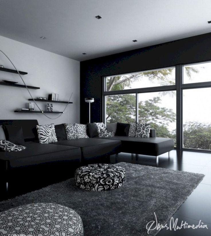 Черно белые фото в интерьере гостиной заре