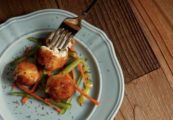 Goat Cheese Balls with Mango Sauce - Vegiholic