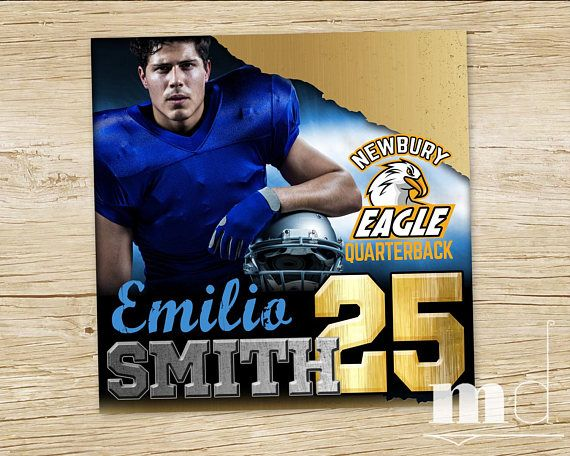 Custom Sports Player Card Football Baseball Hockey Basketball Player Trading card, custom team logo player photo jersey number social media profile photo image