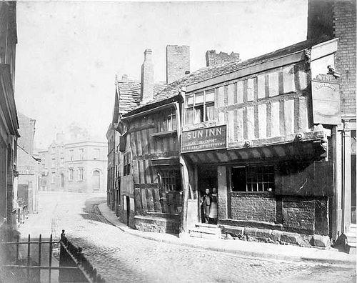 The Sun Inn, Poets Corner, Manchester, 1865 | Taken in 1865,… | Flickr