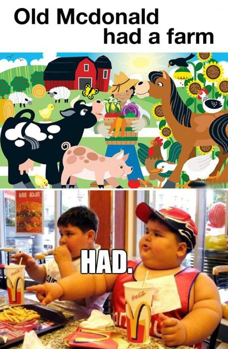 Old Mcdonald had a farm....