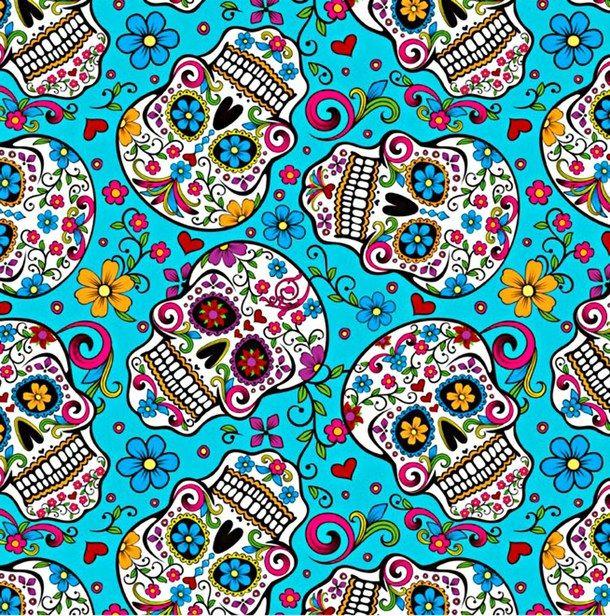 Colors Dia De Muertos Skull