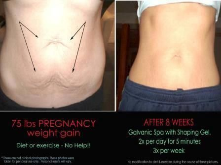 galvanic body spa use after pregnancy. no more tummy!  nuskin.dani@gmail.com