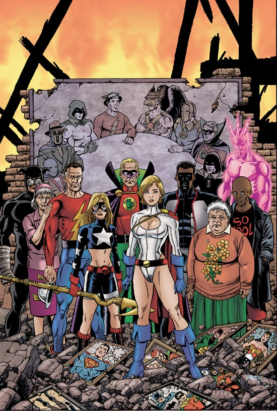 Justice Society of America, Ma Hunkle, Joan Garrick, George Perez