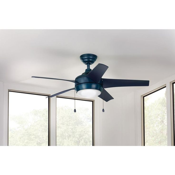 17 best ceiling fan images on pinterest blankets ceilings and hampton bay 44in windward blue ceiling fan with bowl light and pull chains aloadofball Images